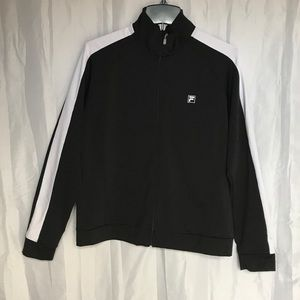 Fila | Black w/ White Stripe Track Jacket